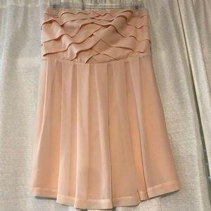 Blush silk short dress